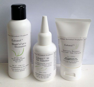 Combination Package 3 is anti hairloss shampoo, solution and recovery ointment