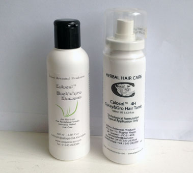 Combination Pack of Calosol anti hairloss shampoo and spray